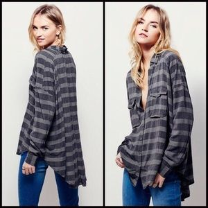 Free People button down slouchy top